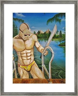 Jason    Framed Print by Karl Von Frankenstein