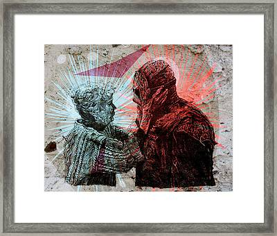 Jason And Mrs Voorhees Framed Print by Zoe Wall