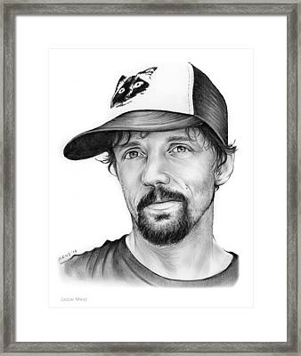 Jason Mraz Framed Print by Greg Joens