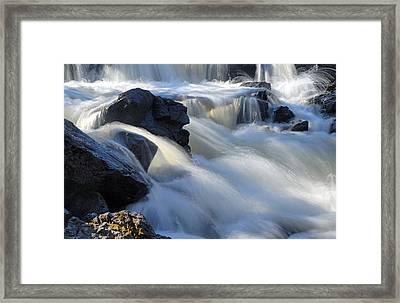 Jasper Falls Closeup Framed Print by Larry Ricker