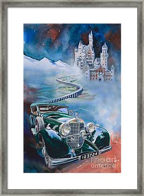 Jawohl Mercedes 500k Framed Print by Mike Hill