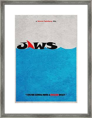 Jaws Framed Print by Ayse Deniz