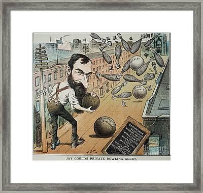 Jay Gould Cartoon, 1882 Framed Print by Granger