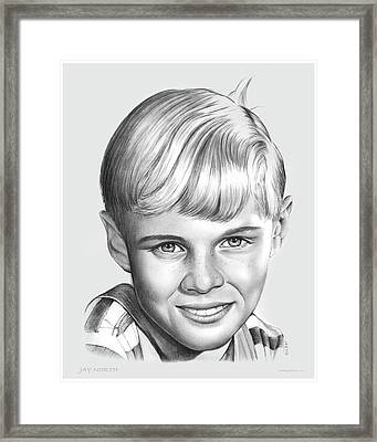 Jay North Framed Print by Greg Joens