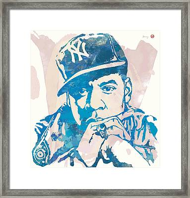 Jay-z  Etching Pop Art Poster Framed Print by Kim Wang