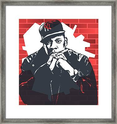 Jay Z Graffiti Tribute Framed Print by Dan Sproul
