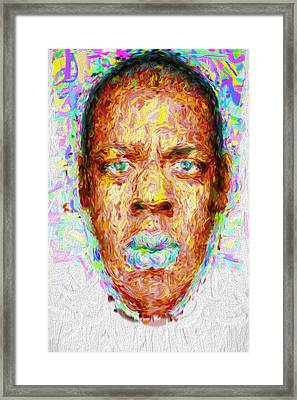 Jay Z Painted Digitally 2 Framed Print by David Haskett