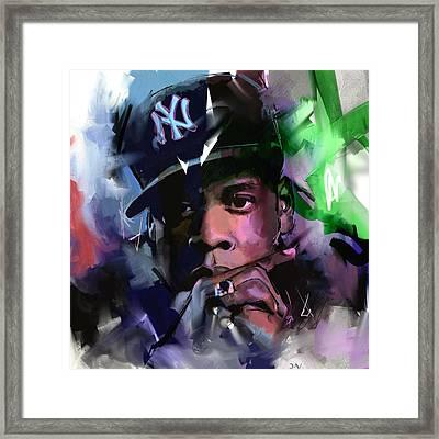 Jay Z Framed Print by Richard Day
