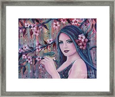 Jayden's Garden Framed Print by Renee Lavoie