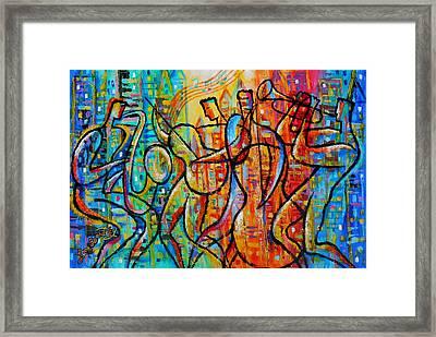 Jazz And The City Framed Print by Leon Zernitsky