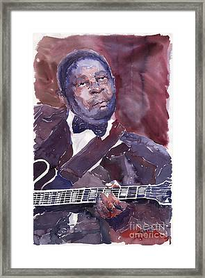 Jazz B B King Framed Print by Yuriy  Shevchuk