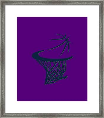 Jazz Basketball Hoop Framed Print by Joe Hamilton