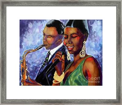 Jazz Duet Framed Print by Linda Marcille