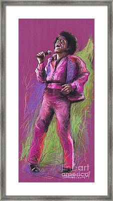 Jazz James Brown Framed Print by Yuriy  Shevchuk