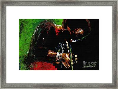 Jazz Miles Davis 1 Framed Print by Yuriy  Shevchuk