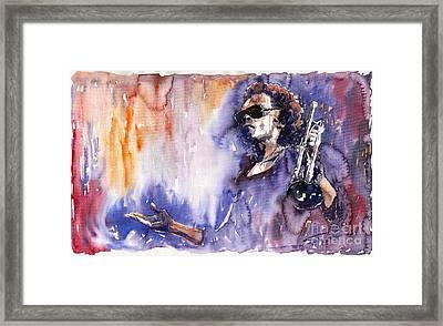 Jazz Miles Davis 14 Framed Print by Yuriy  Shevchuk