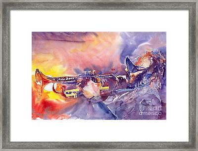 Jazz Miles Davis Electric 1 Framed Print by Yuriy  Shevchuk