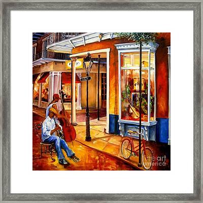 Jazz On Royal Street Framed Print by Diane Millsap