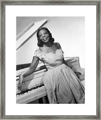 Jazz Pianist Mary Lou Williams Framed Print by Underwood Archives