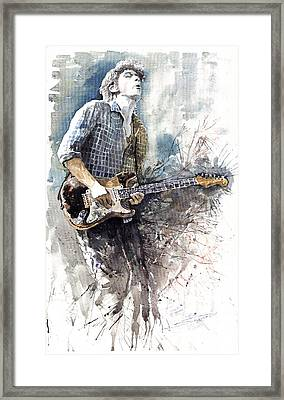 Jazz Rock John Mayer 05  Framed Print by Yuriy  Shevchuk