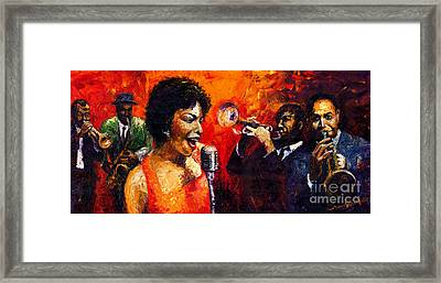 Jazz Song Framed Print by Yuriy  Shevchuk