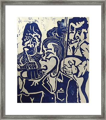 Jazz Trio Framed Print by Jame Hayes