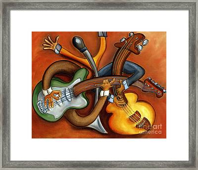 Jazz Trio Framed Print by Joshua Matherne