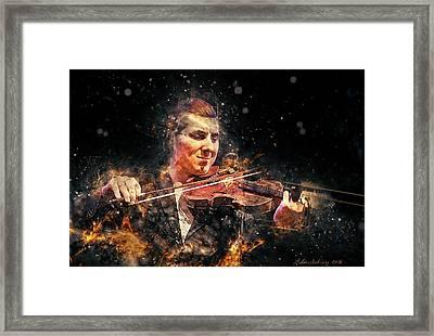 Jazz Violin Player Framed Print by Arthur Babiarz