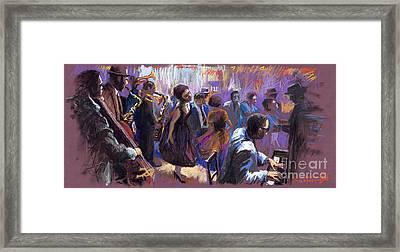 Jazz Framed Print by Yuriy  Shevchuk