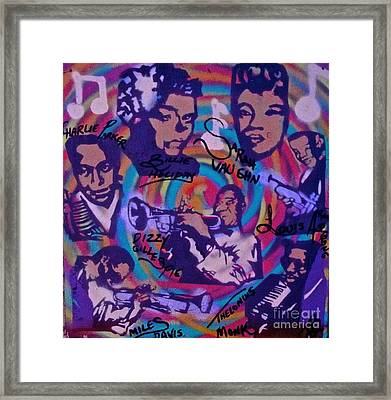Jazzed Up 2015 Framed Print by Tony B Conscious