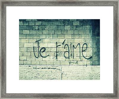 Je T'aime Framed Print by Will Grant