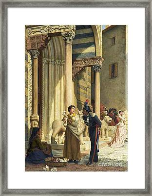 Jealousy In The Courtyard Framed Print by MotionAge Designs
