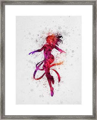 Jean Grey 02 Framed Print by Aged Pixel