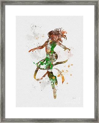 Jean Grey Framed Print by Rebecca Jenkins