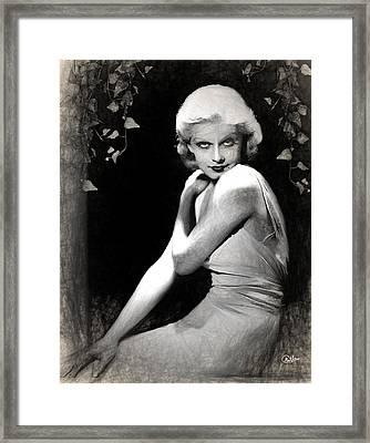 Jean Harlow Draw Framed Print by Quim Abella