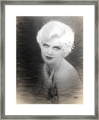 Jean Harlow Drawing Framed Print by Quim Abella