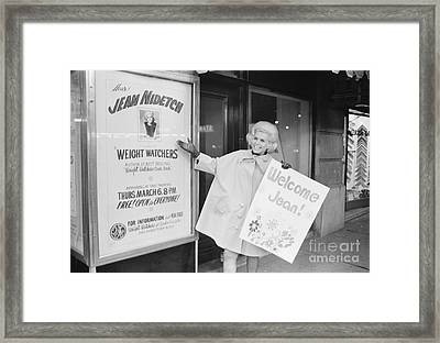 Jean Nidetch, Cofounder Of Weight Watchers Framed Print by The Phillip Harrington Collection