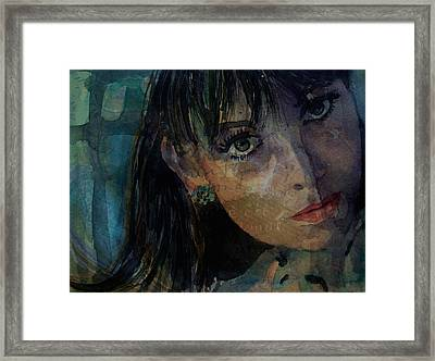 Jean Shrimpton Framed Print by Paul Lovering