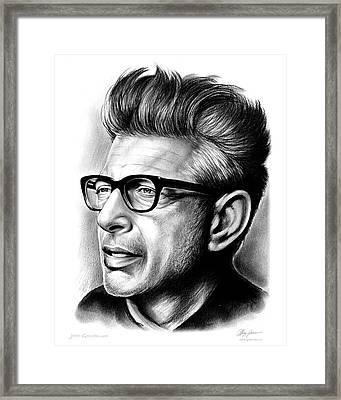 Jeff Goldblum Framed Print by Greg Joens