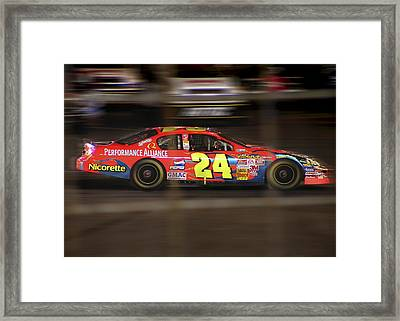 Jeff Gordons Cup Car  Framed Print by Kenneth Krolikowski