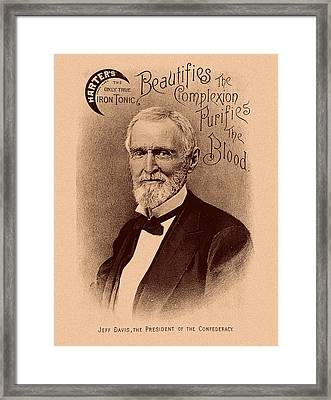 Jefferson Davis Vintage Advertisement Framed Print by War Is Hell Store