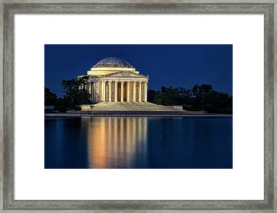 Jefferson Memorial At Twilight Framed Print by Andrew Soundarajan
