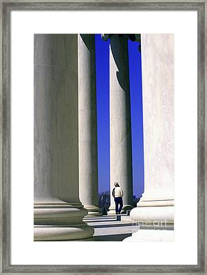 Jefferson Memorial Columns Framed Print by Thomas R Fletcher