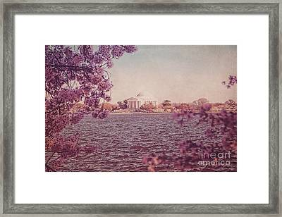 Jefferson Memorial During Spring Framed Print by Emily Kay