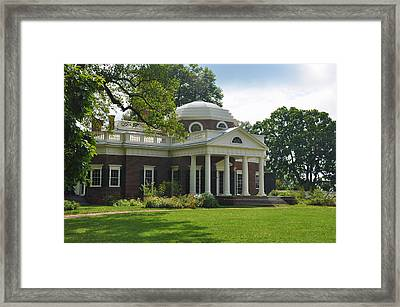 Jeffersons Monticello Framed Print by Bill Cannon