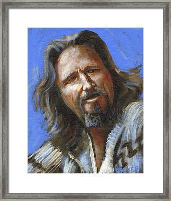 Jeffrey Lebowski - The Dude Framed Print by Buffalo Bonker