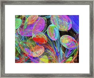 Jelly Beans And Balloons Abstract Framed Print by Andee Design