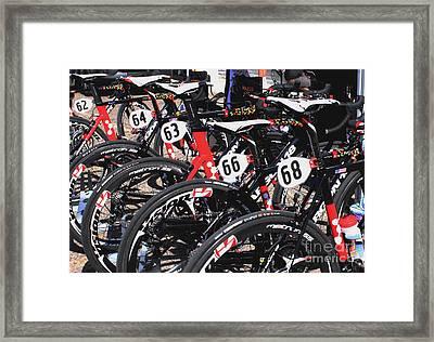 Jelly Belly Pro Racer Bikes Framed Print by Natalie Ortiz