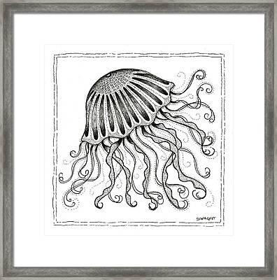Jelly Fish Framed Print by Stephanie Troxell