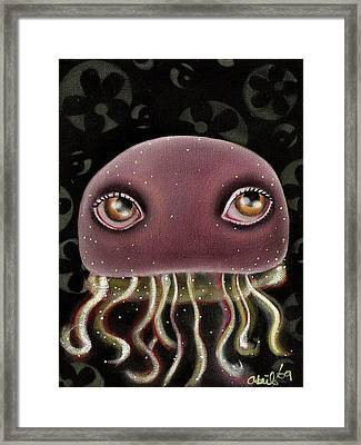 Jellyfish Framed Print by  Abril Andrade Griffith